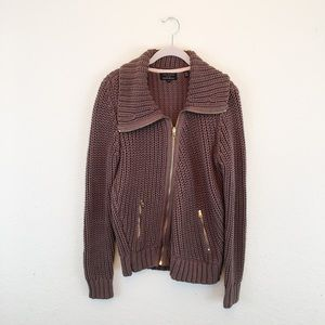 Ted Baker | Brown Full Cable Knit Sweater